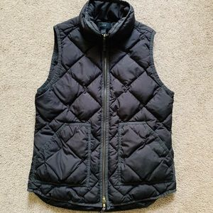 Women's J Crew Black Quilted Vest